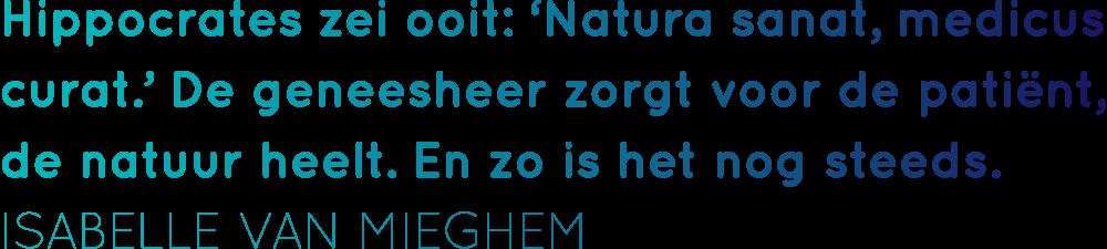 quote van Isabelle van Mieghem